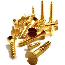 Brass Wood Screws (Various Sizes and Quantities)