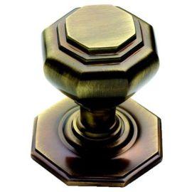 Antique Brass Octagonal Centre Door Knob