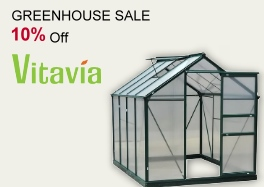 Greenhouse Sale now on -10% off Vitavia Greenhouses